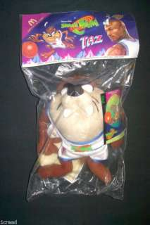 VTG McDonalds Space Jam TAZ Tazmanian Devil Plush Toy NEW 1996