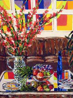 Joel M Roman F.B.H. Still Life Original Gouache Painting flowers