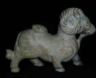 Old Chinese Nephrite Jade Carved Sheep Statue