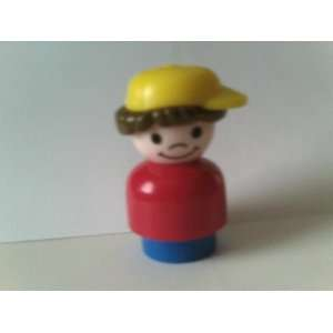 People Replacement Figures Boy with Red Base and Yellow Baseball Cap