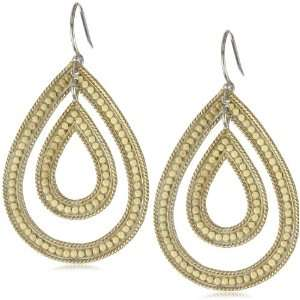 Anna Beck Designs Timor Double Open Drop 18k Gold Plated Earrings