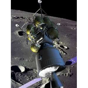New Spaceship to the Moon, the Crew Goes into Lunar Orbit