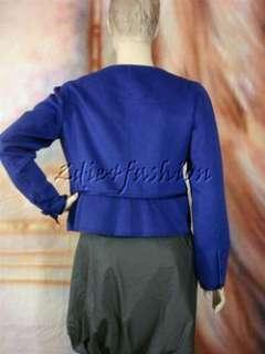 VALENTINO Stylish Royal Blue Soft Virgin Wool Cashgora Jacket 8