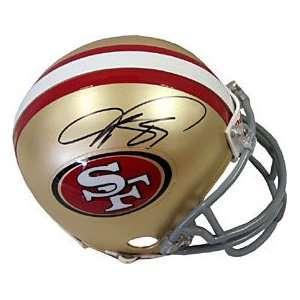 Vernon Davis Autographed / Signed San Francisco 49ers Mini Helmet