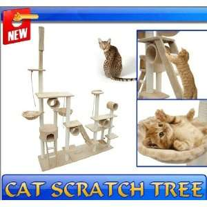 Frugah New Large Kitty Cat Tree Condo Post Cat Scratcher
