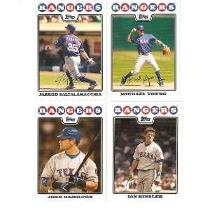 2008 Topps Texas Rangers Complete Team Set ( 24   Baseball