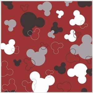 Mickey Mouse Heads Red & Black Wallpaper in York Disney
