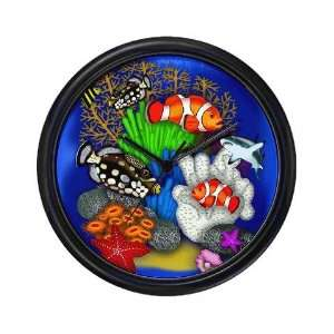 Tropical Ocean Fish Scene Wall Art Clock, 10 Home & Kitchen