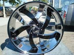22 INCH VELOCITY 825 CHROME & BLACK RIMS AND TIRES CADILLAC DEVILLE