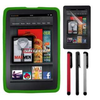 items accessory bundle for  kindle fire skin case lcd film