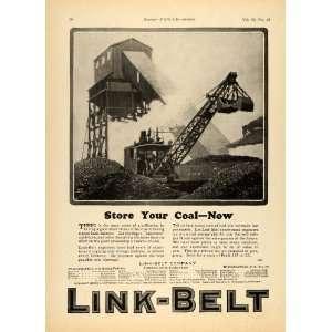 1924 Ad Link Belt Coal Storage Plan Plant Production