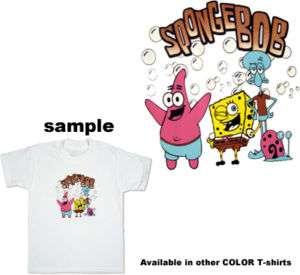 SpongeBob Friends Bubble Boy Child Kid Color T Shirt