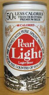 PEARL LIGHT 1983 84 RAZORBACK BASKETBALL SCHEDULE BEER Can with Hog