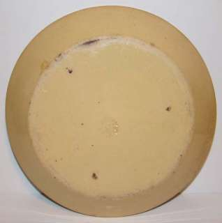 Yellow Ware Pie Plate Rare Flower Petal Mark Bennett