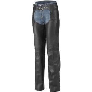 Road Plain Chaps Womens Leather Harley Touring Motorcycle Pants w