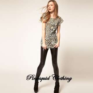 Ladies Womens Leopard Animal Print Tight Bodycon Celebrity Style