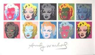 VERY RARE LIMITED ED ANDY WARHOL 10 MARILYN MONROE