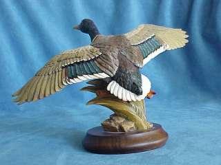 Vintage THE MALLARD Duck Hand Carved Wood Anri GUNTHER GRANGET Online