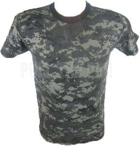 MENS SUBDUED URBAN DIGITAL CAMO MILITARY T SHIRT SM 3XL