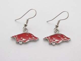 Arkansas Razorbacks Red Hogs Earrings Jewelry UA