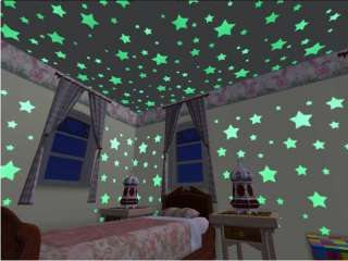 Glow in Dark Baby Room Baby Wall Stickers Decals Stars