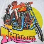 ULTRA RARE 1972 vintage TRIUMPH MOTOR CYCLE T SHIRT biker medium 70s
