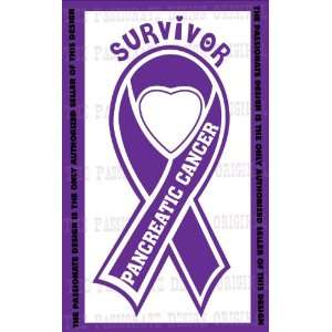 Pancreatic Cancer Ribbon Decal 6 X 11 Everything Else