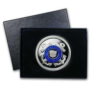 1 oz U.S. Coast Guard Enameled Silver Round(w/Gift Box