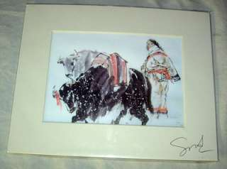 JINSHENG SONG SIGNED WATERCOLOR PRINT CHINESE ARTIST #1