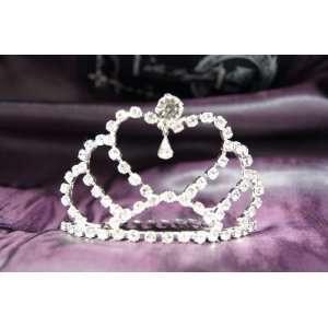 Beautiful Bridal Wedding Tiara Crown with Crystal Heart