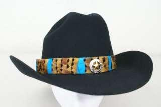 New GIDDY YUP 29HB11 Feather Hatband ARROYO Pheasant Western HATBAND