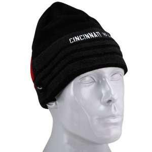 adidas Cincinnati Bearcats Black Trefoil Knit Beanie