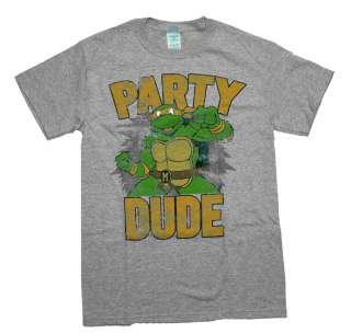 Teenage Mutant Ninja Turtles TMNT Party Dude Cartoon T Shirt Tee