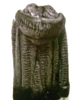 Jones New York Black Faux Fur Coat Jacket M NWT