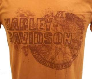 Harley Davidson Las Vegas Dealer Tee T Shirt ORANGE MEDIUM #TSX