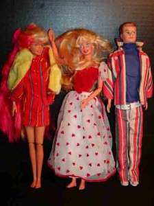 BARBIE DOLLS 2 w/ Flexible Knee Joints, One Ken Doll, All are