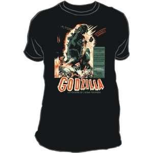 T Shirt   Godzilla   Vintage Poster: Home & Kitchen