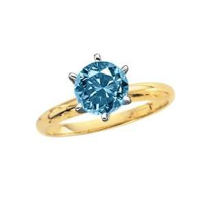Solitaire Engagement Ring (Yellow Gold) (Size 8.5) Katarina Jewelry