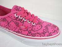 VANS AUTHENTIC HELLO KITTY PINK/TRUE WHITE/BLACK CLASSIC SKATE MENS