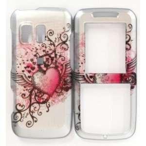 R451c Tattoo Heart Design Skin Cover Case Protector Hard Straight Talk