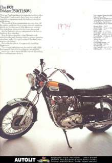 1974 Triumph Trident 750 Motorcycle Brochure