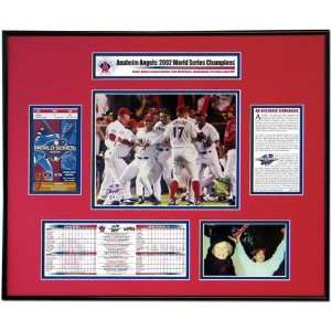 2002 World Series Ticket Frame Anaheim Angels 4   San Francisco Giants