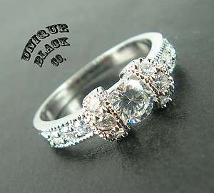 White Gold WEDDING BAND High quality Lady Round Cut Russian Diamonds