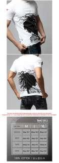 Trendy Quality Slim Fit Graphic Tattoo Design Print Top T Shirts