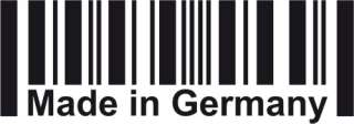 MADE IN GERMANY Barcode Aufkleber Sticker decal schwarz weiß DUB OEM