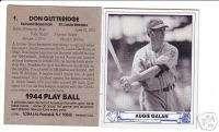 1944 Play Ball AUGIE GALAN, Dodgers (@1983 TCMA)