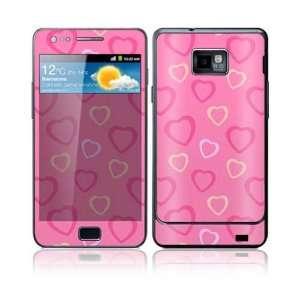 Pink Hearts Decorative Skin Decal Sticker for Samsung