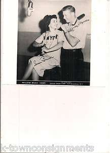 YANKEES OWN MICKEY MANTLE AND WILLOW MUSIC CORPS TERESA BREWER FAC AUT