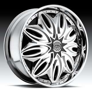 New Davin Spinners Trapstar 26 5x120 5x127 Chrome Rims Wheels dub