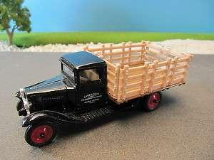 Ertl Diecast 1930 Chevrolet Stake Truck Livestock Transportation 143